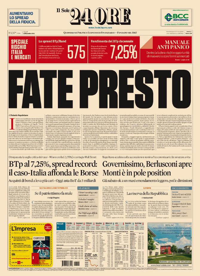 Il Sole 24 Ore | Frontpages - adriano.attus.it